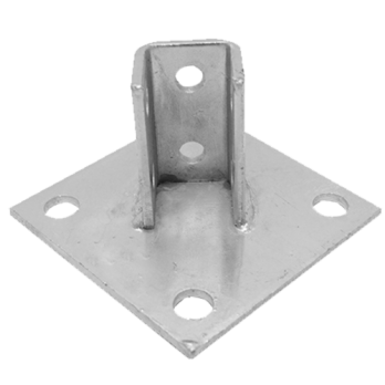 single channel square base plate