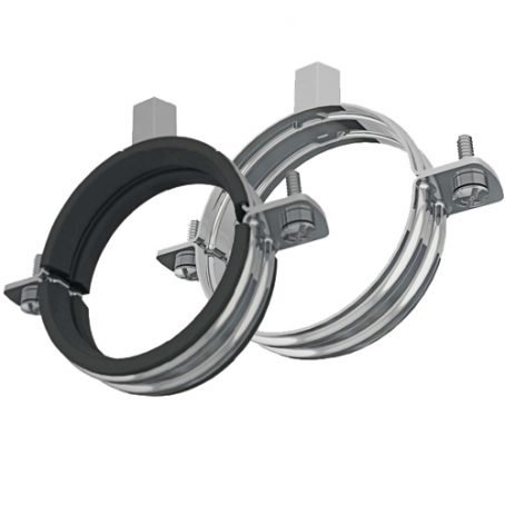 Rubber lined unlined pipe clips