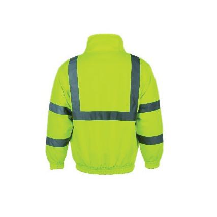 Yellow hi visibility bomber jacket